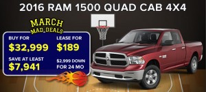 March Mad Deals 2016 (Ram 1500)